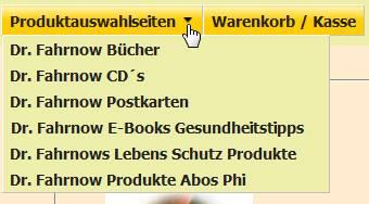 Produktauswahlseiten